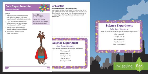 Mentos and Coke Science Experiment - Superheroes, superhero