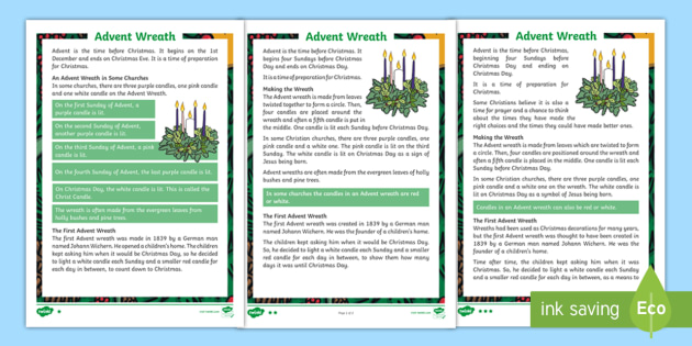 ks1 advent wreath differentiated fact file guided. Black Bedroom Furniture Sets. Home Design Ideas