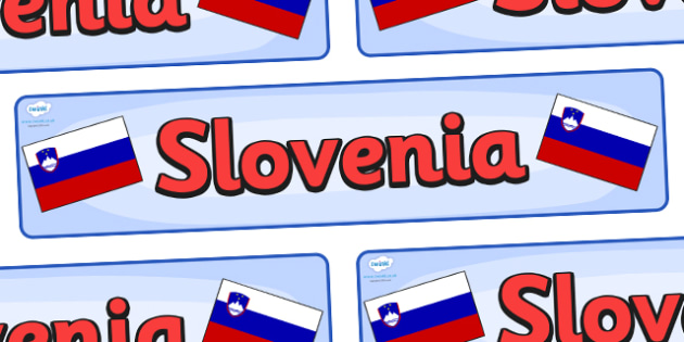Slovenia Display Banner - Slovenia, Olympics, Olympic Games, sports, Olympic, London, 2012, display, banner, sign, poster, activity, Olympic torch, flag, countries, medal, Olympic Rings, mascots, flame, compete, events, tennis, athlete, swimming