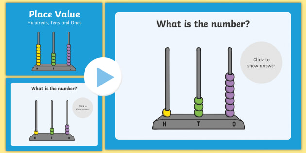Place Value Abacus Activity Hundreds Tens And Ones Place