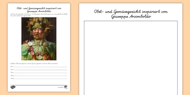 NEW * Giuseppe Arcimboldo Obst- und Gemüsegesicht