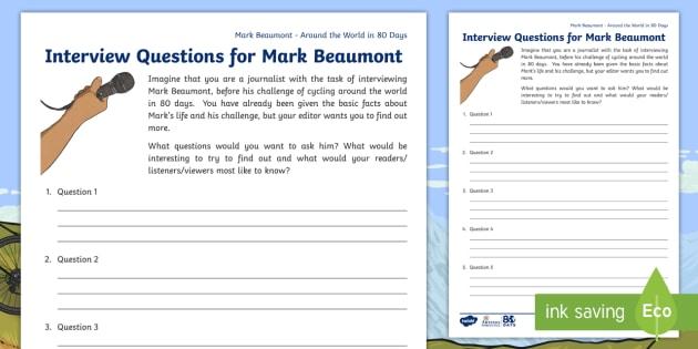 KS2 Around The World In 80 Days Mark Beaumont Interview