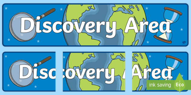 discovery area display banner  teacher made