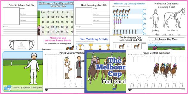 The Melbourne Cup Activity Pack - australia, melbourne cup, activity, pack