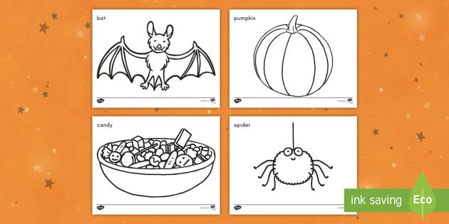 Halloween Coloring Worksheet / Worksheets - Halloween ...