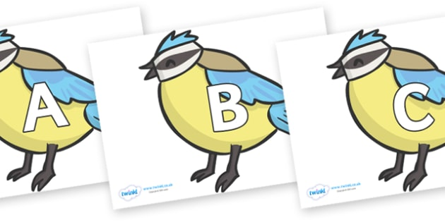 A-Z Alphabet on Birds - A-Z, A4, display, Alphabet frieze, Display letters, Letter posters, A-Z letters, Alphabet flashcards