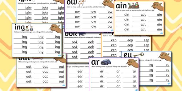 Mixed Rime Mats - rime, mats, mixed, rhyme, words, activity