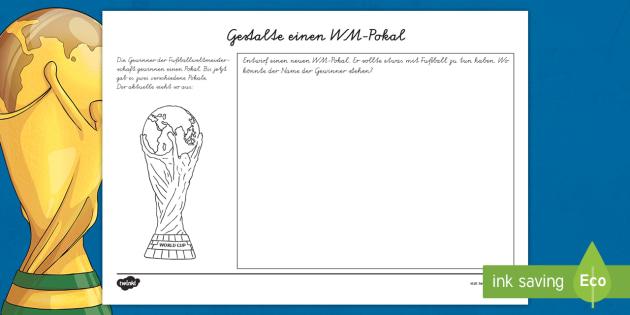 NEW * Gestalte einen WM Pokal Arbeitsblatt - Fifa