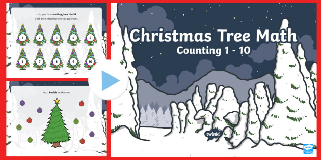 Christmas Tree Math Counting Interactive PowerPoint