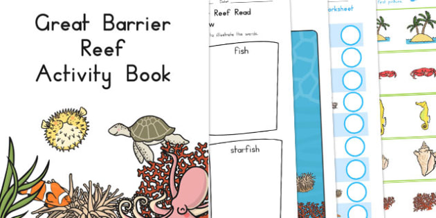 Great Barrier Reef Activity Booklet - australia, barrier, reef