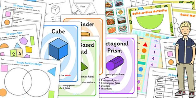 KS3 Maths Shapes Catch Up Resource Pack - ks3, maths, shapes