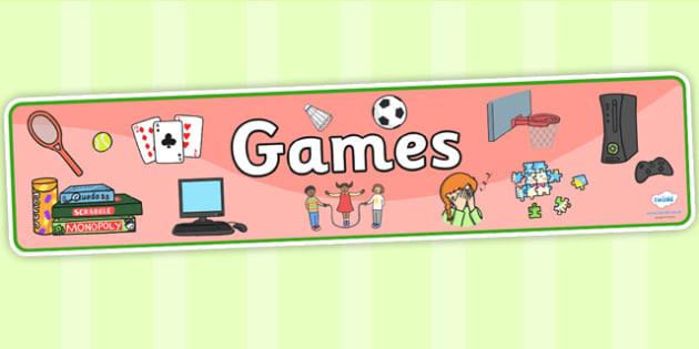 Games Display Banner - games, display banner, banner, display, banner for display, display header, header for display, header, games banner, games header