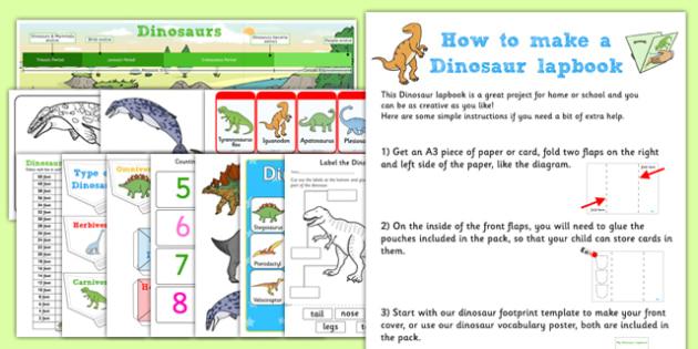 Dinosaur Lapbook Creation Pack - dinosaur, lapbook pack