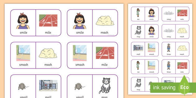 'sm' and 'm' Near Minimal Pair Dominoes - sm,cluster reduction, cluster simplification, s, blends, sm v s, salt , speech and language, languag