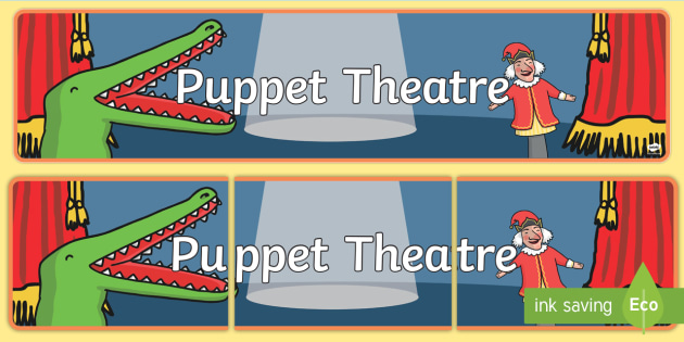 Puppet Theatre Display Banner - puppet theatre, puppets, theatre, display, banner sign, poster, little, show, puppet