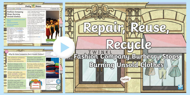 New Uks2 Repair Reuse Recycle Daily News Powerpoint Fashion