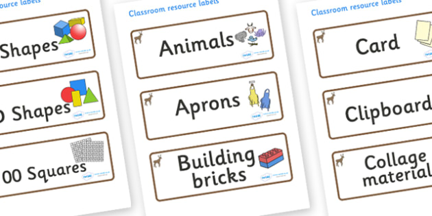 Deer Themed Editable Classroom Resource Labels - Themed Label template, Resource Label, Name Labels, Editable Labels, Drawer Labels, KS1 Labels, Foundation Labels, Foundation Stage Labels, Teaching Labels, Resource Labels, Tray Labels, Printable labe