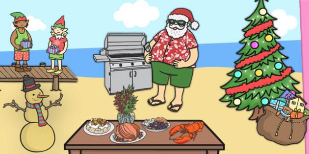 Giant Christmas Scene Pack Cut Outs - australia, christmas, cut