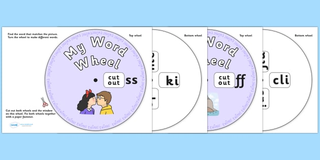 Final Sound Word Wheels -ss -ff -ll -zz and -ck - Final Sound Word Wheels -ss -ff -ll -zz and -ck, final sound, sounds, Phoncs, Digraph, word wheel, DfES Letters and Sounds, Letters and Sounds, words, different, word, Wheel,s -ss, -ff -ll-, -zz, -ck