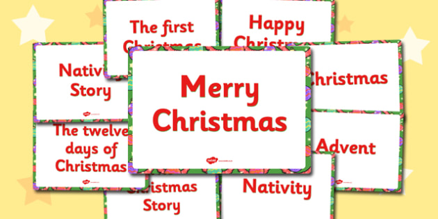 Large Christmas Display Signs (Plain) - Christmas, xmas, display sign, Happy Christmas, Advent, Nativity, First Christmas, Christmas Story, tree, advent, nativity, santa, father christmas, Jesus, tree, stocking, present, activity, cracker, angel, sno