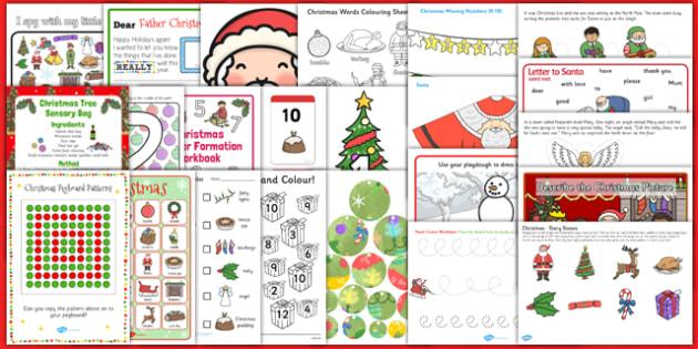 Christmas SEN Resource Pack - christmas, sen, resource pack, resource, pack