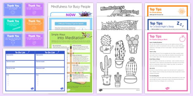 Teacher Wellbeing Bumper Resource Pack