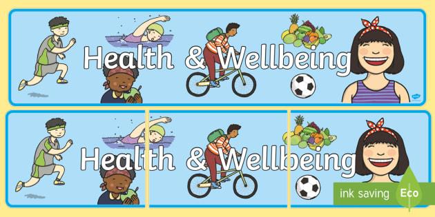 Health Wellbeing Display Banner Teacher Made