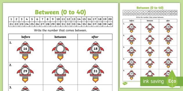 Algebra Extending Patterns (Between 0-40) Worksheet - Maths, Pattern