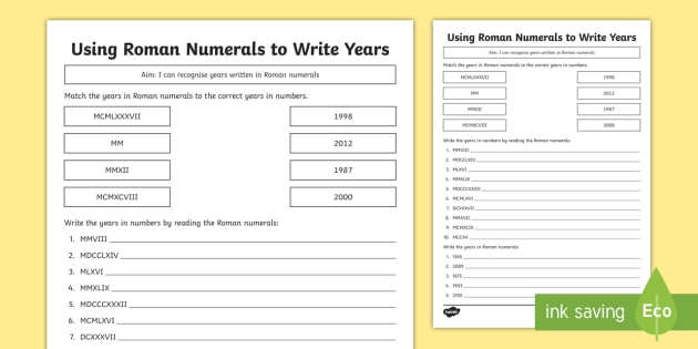 Year 5 using roman numerals to write years worksheet activity year 5 using roman numerals to write years worksheet activity sheet roman numbers ibookread ePUb