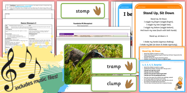 Foundation PE (Reception) - Dance - Dinosaurs Lesson Pack 2: Developing Dinosaurs - EYFS, PE, Physical Development, Planning