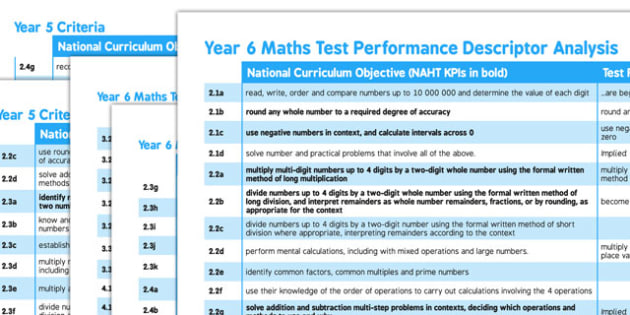 Compare Year 5 to 6 Maths Objectives to Framework - compare