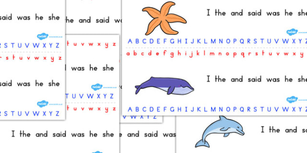Great Barrier Reef Alphabet Strips - australia, barrier, reef