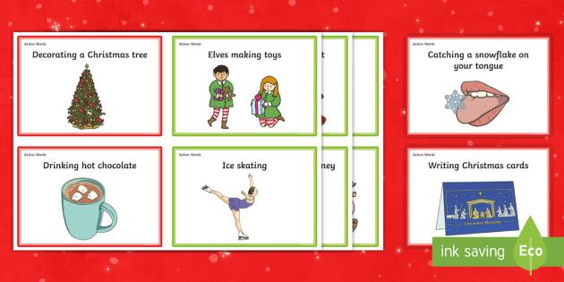 Christmas Charades.Christmas Charades Cards