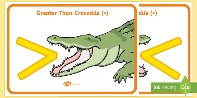 Greater Than And Less Than Crocodiles Display Greater Than