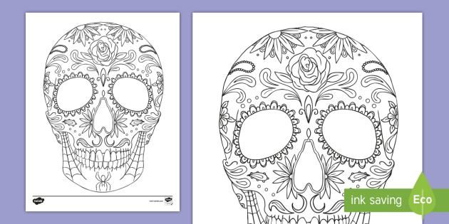 - Day Of The Dead Sugar Skull Coloring Page (teacher Made)