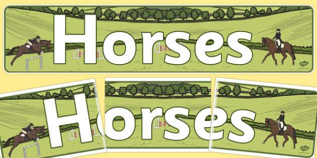 Horses Display Banner - horses, display, banner, display banner