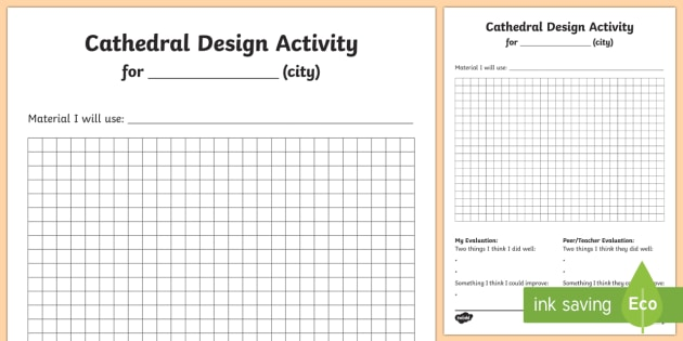 KS1 Cathedral Design Activity Sheet