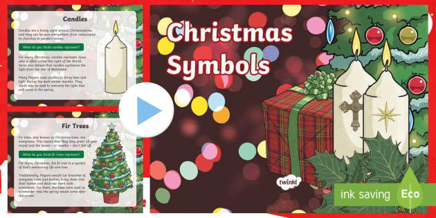Symbols Of Christmas.Ks2 Symbols Of Christmas Information Powerpoint Christmas