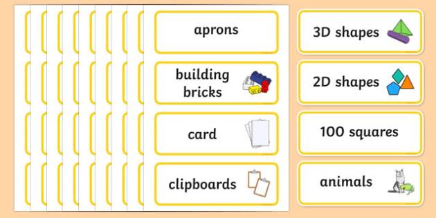 Yellow Themed Editable Classroom Resource Labels - Themed Label template, Resource Label, Name Labels, Editable Labels, Drawer Labels, KS1 Labels, Foundation Labels, Foundation Stage Labels, Teaching Labels, Resource Labels, Tray Labels, Printable la