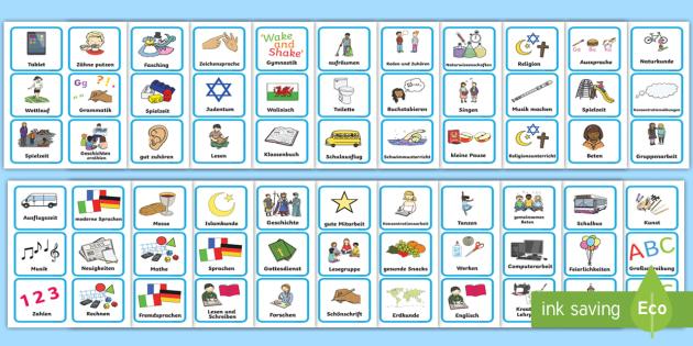 Visual Timetable German