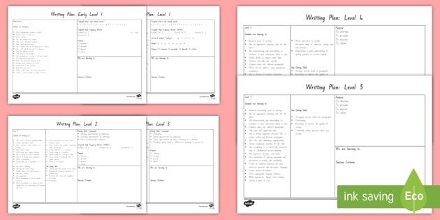 editable writing to level 5 template plan writing literacy
