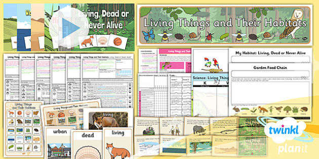 Science: Living Things and Their Habitats Year 2 Unit Pack