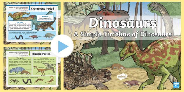 new ks2 dinosaur timeline powerpoint simple dinosaur. Black Bedroom Furniture Sets. Home Design Ideas