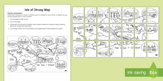 Isle of Struay Map Collaborative Colouring Activity Pack