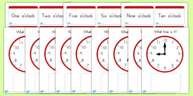 Clock Matching Game O Clock - clocks, time, matching, match, game