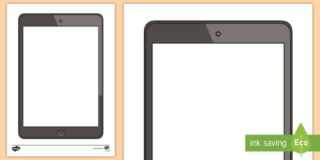 Tablet Blank Writing Template