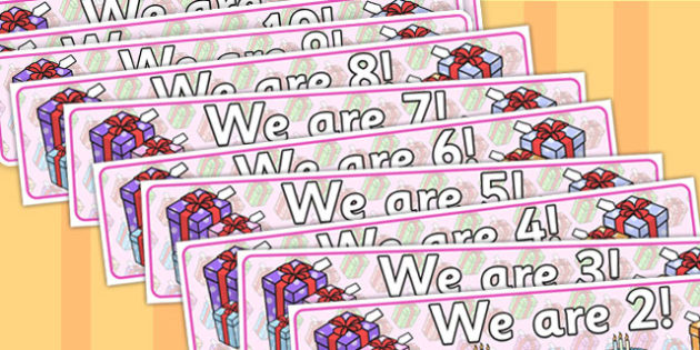 we are age display banners birthday banner birthday display