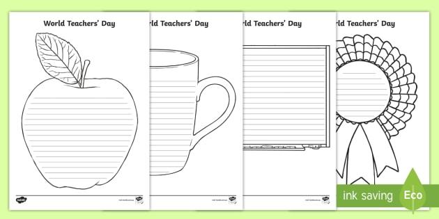 World Teachers' Day Shape Poetry - poem, genre writing