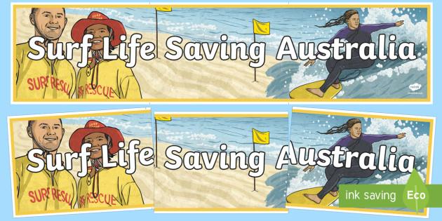 Surf Life Saving Australia Display Banner - Surf Life Saving Australia, life saving, charity, community, coast, drowning, saving lives, sea, oce
