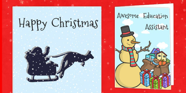 Awesome Education Assistants Christmas Card - australia, awesome, education, christmas, assistants, cards